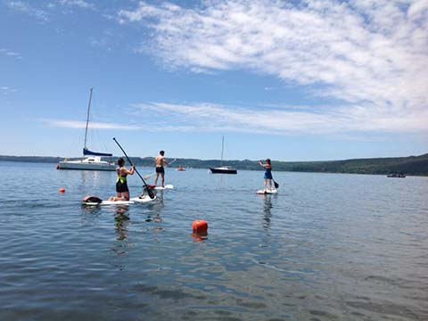 Sup (Stand Up Paddle Board) sul lago di Bracciano