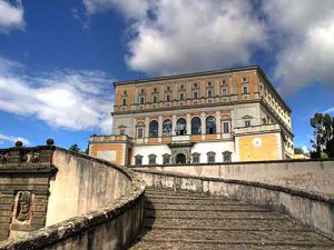 Entrance of Palazzo Farnese in Caprarola