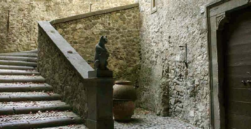 Entrance stairway at Castle Bracciano