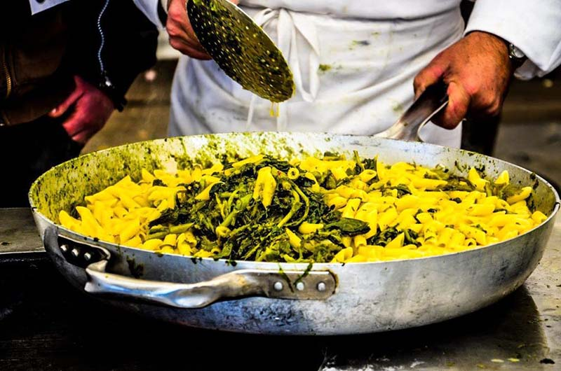 cottura dei broccoletti di anguillara